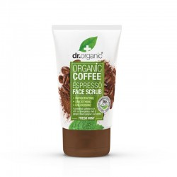 Dr Organic Coffee espresso face scrub 125 ML