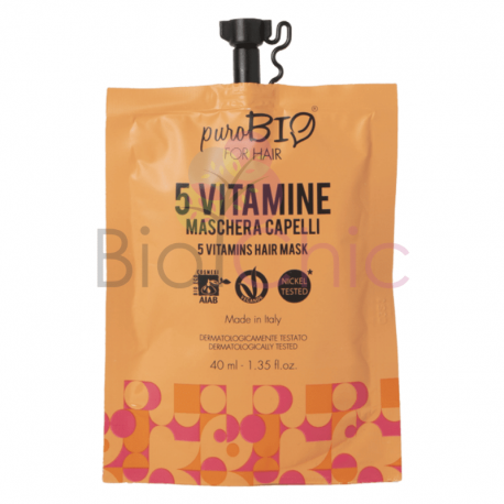 PuroBio For Hair Maschera alle 5 vitamine